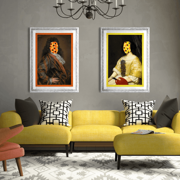 Eccentric Modern Abstract Canvas Prints - Eccentric Artwork for luxury bright living room ideas