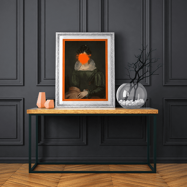 Orange Wall Art Ideas - perfect for an orange home interior design