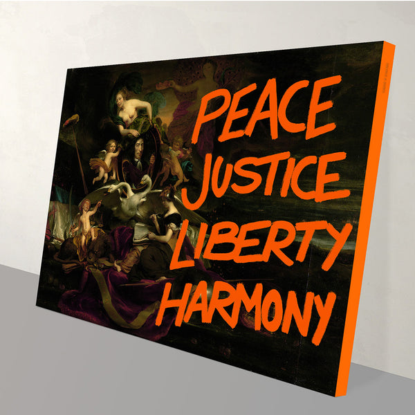 Peace and Justice Canvas Print
