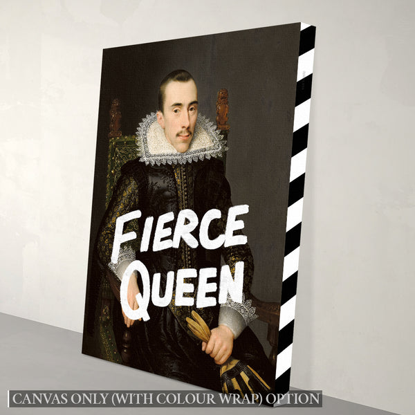 Fierce Queen Canvas Print