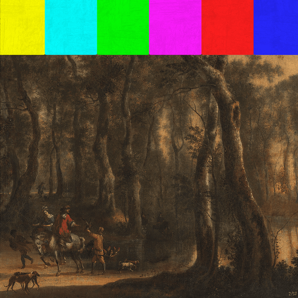 LIMITED EDITION: Hunters in the Woods Canvas Print