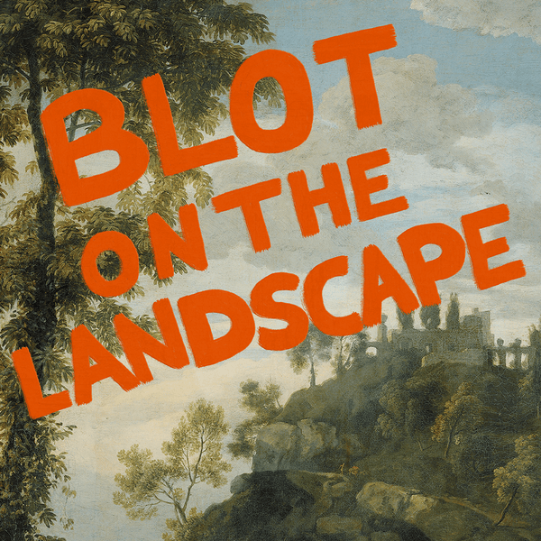 Blot on the Landscape Framed Art Print