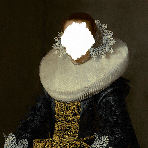 Defaced Portrait of a Woman - Framed Print