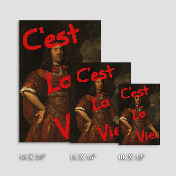 C'est La Vie Tromp - Fine Art Print on Paper