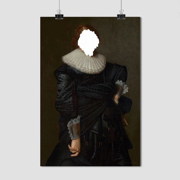 Defaced Portrait of a Man - Fine Art Print on Paper