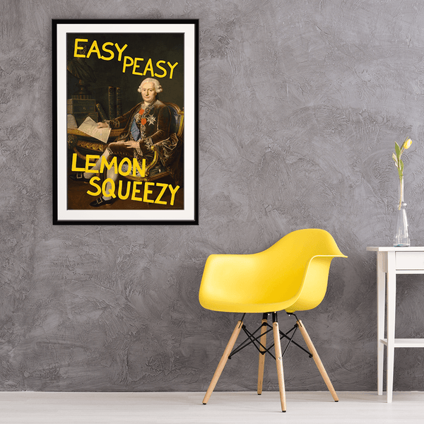 Easy Peasy Lemon Squeezy Framed Print
