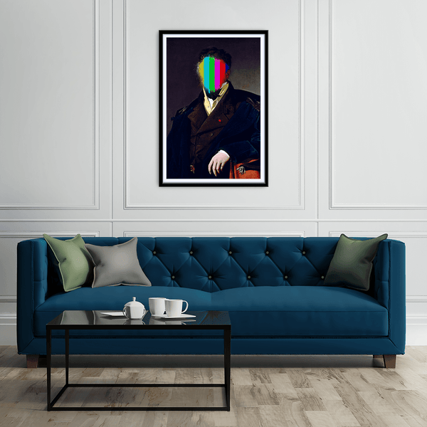 Sir Splat Framed Print