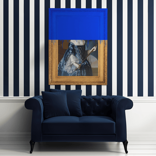 The Lady in Blue Canvas Print