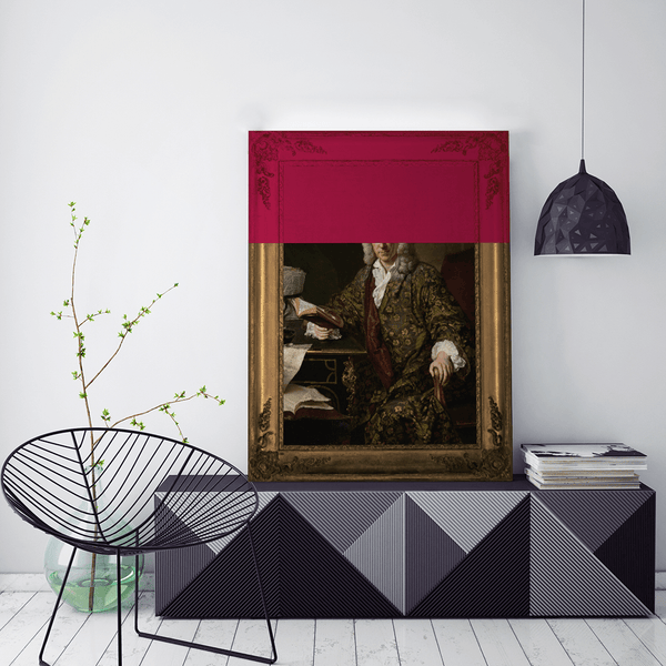Marc'd in Burgundy Canvas Print