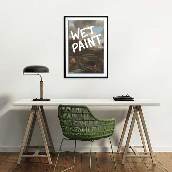 Wet Paint Framed Art Print