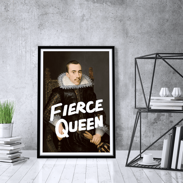 Fierce Queen Framed Print