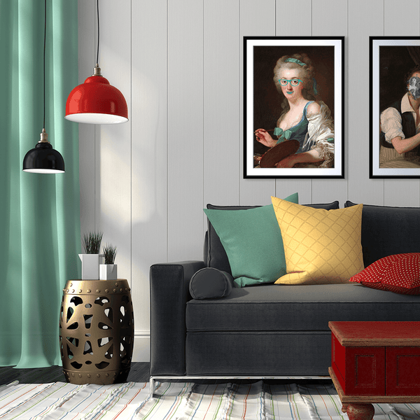 Gracious in Green Framed Print
