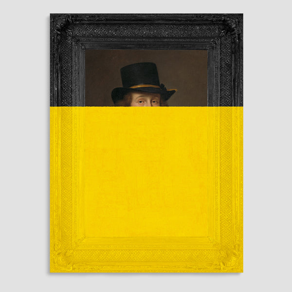 Man in Hat Canvas Print