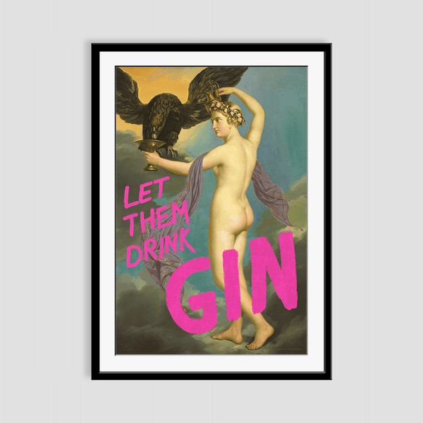 Let Them Drink Gin Framed Print