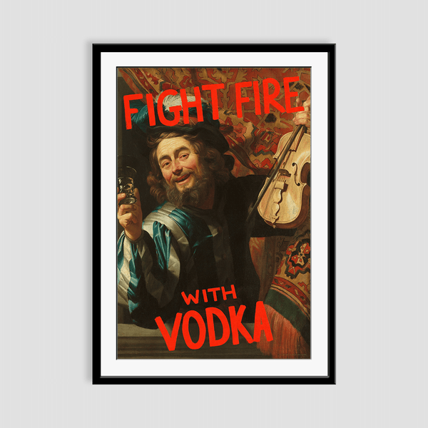 Fight Fire with Vodka Framed Print
