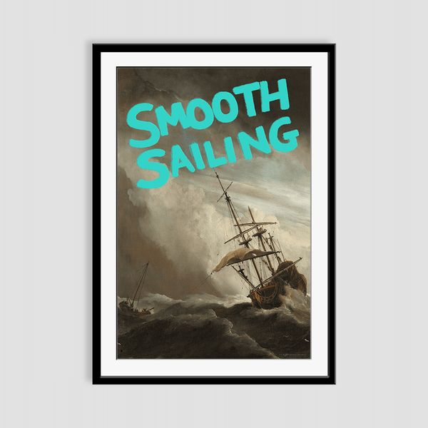 Smooth Sailing Framed Print