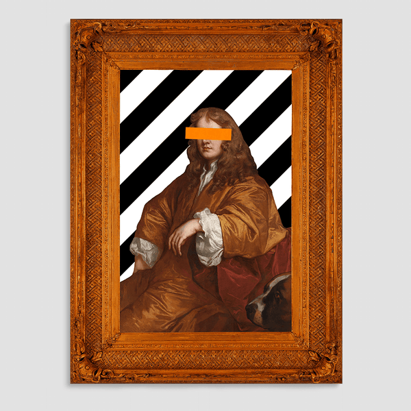 The Man in Orange - Canvas Print