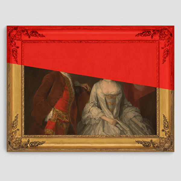 The Couple in Red - Canvas Print