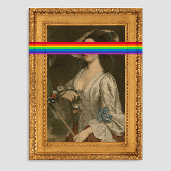 LIMITED EDITION: The Rainbow Lady Canvas Print