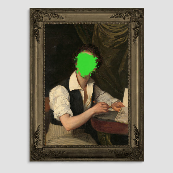 The Defaced Charlie Canvas Print