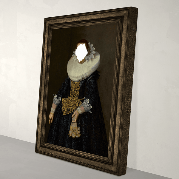 Defaced Portrait of a Woman - Canvas Print