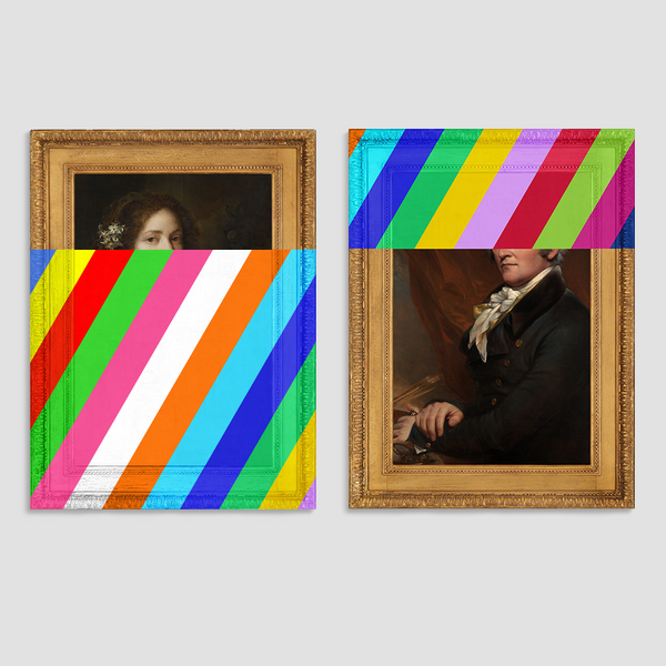 Margaretha and Trumbull Canvas Print Pair