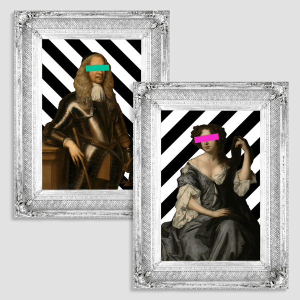 The Lady Louise and The Colonel Canvas Print Pair