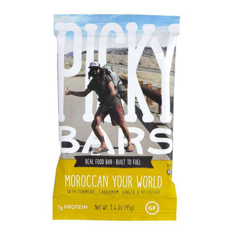 Picky Bars: Moroccan Your World with Turmeric, Cardamom, Ginger & Pistachio
