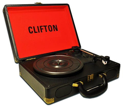 "Tocadiscos Portatil Retro ""Clifton"" by VIEL Music"