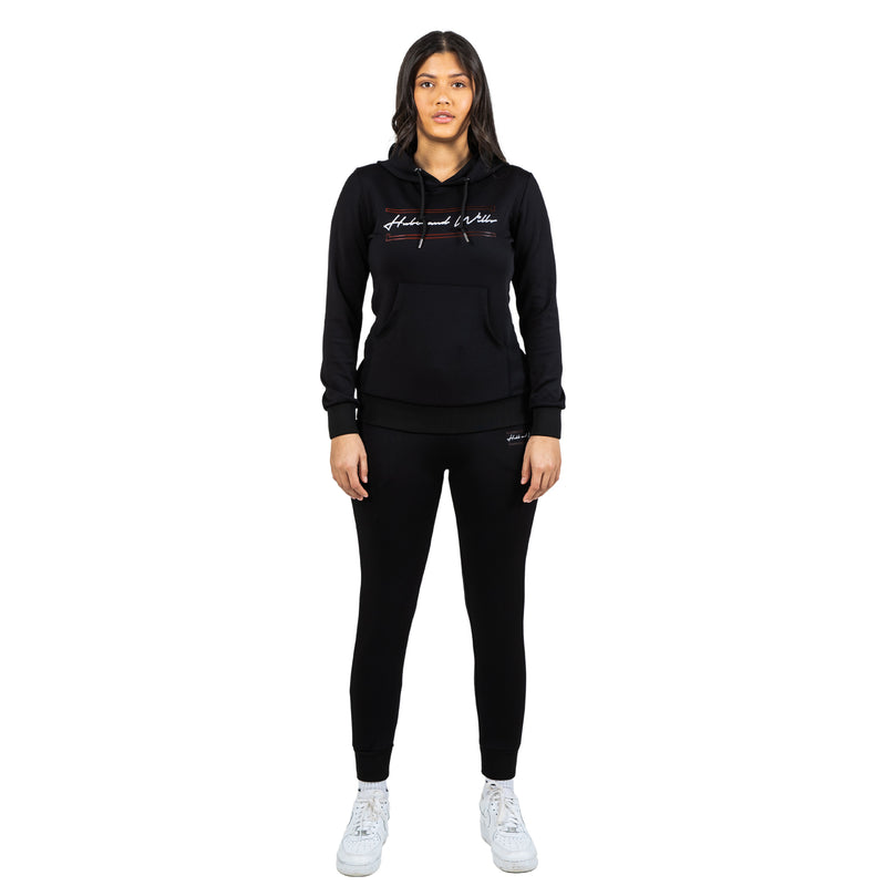 Hubb & Wills For Her Scripto Tracksuit - Black