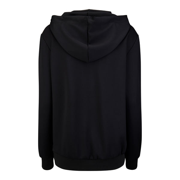 Hubb & Wills For Her Scripto Black Hoodie
