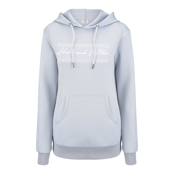 Hubb & Wills For Her  Scripto Grey Hoodie