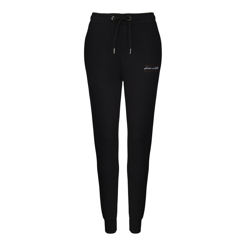 Hubb & Wills For Her Scripto Black Joggers