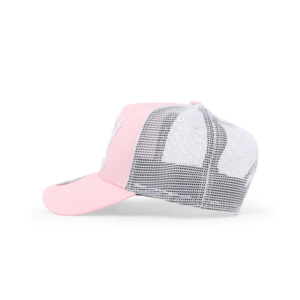 Hubb and Wills Pink Trucker Hat