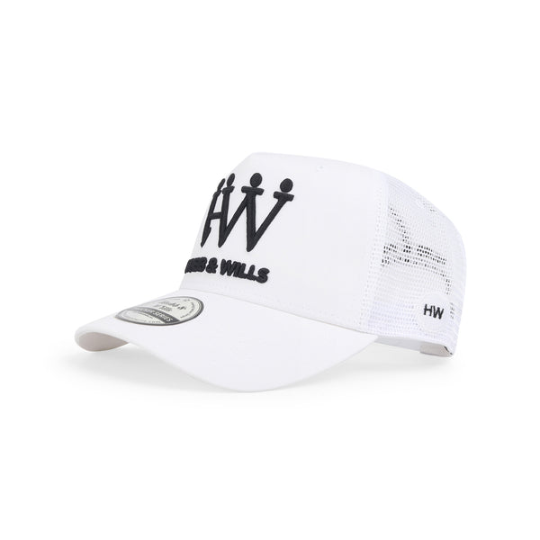 Hubb and Wills White Trucker Hat