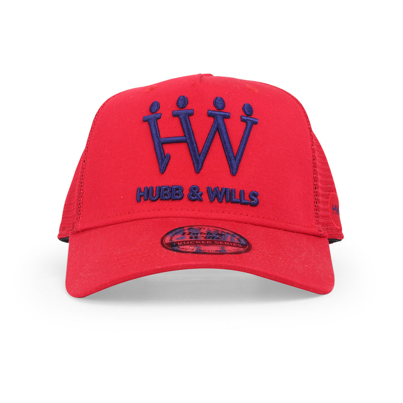 Hubb and Wills Red Trucker Hat