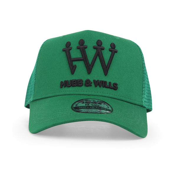 Hubb and Wills Royal Green Trucker Hat