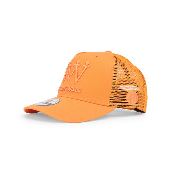 Hubb and Wills Tennessee Orange Trucker Hat
