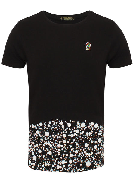Hubb & Wills Curved Dotted T-Shirt