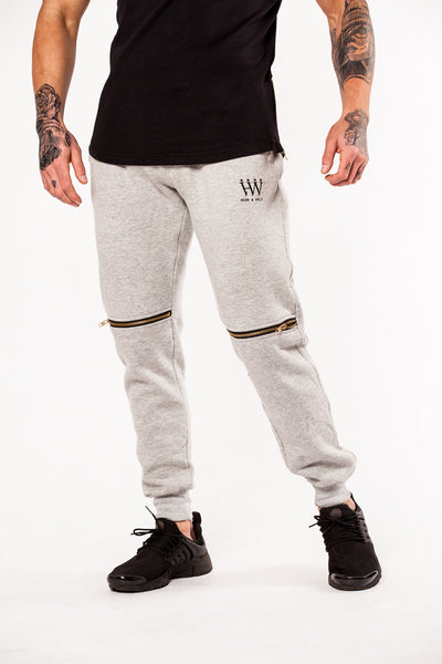 Hubb & Wills Zip Fleece Jogger - Grey