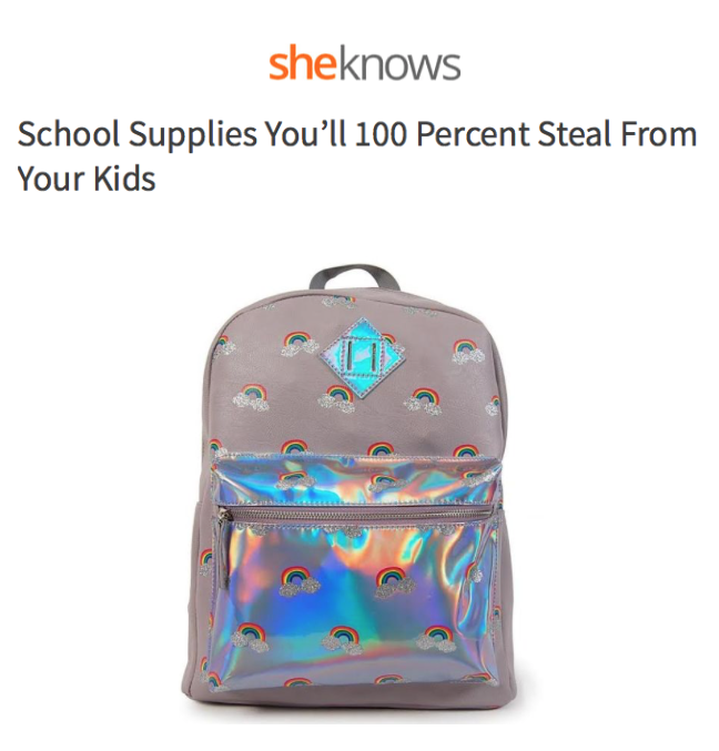 School Supplies You'll 100% Steal From Your Kids!
