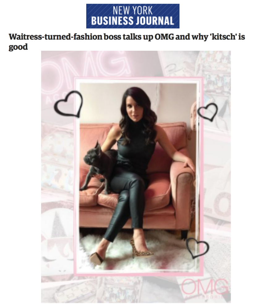 Waitress-turned-fashion boss talks up OMG and why 'kitsch' is good