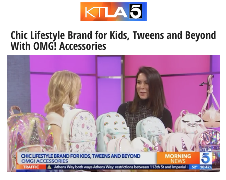 Chic Lifestyle Brand for Kids, Tweens and Beyond With OMG! Accessories