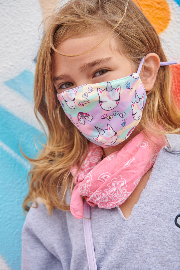 Miss Gwen Camo Print Face Mask, Pouch and Scrunchies Set (Final Sale Item)