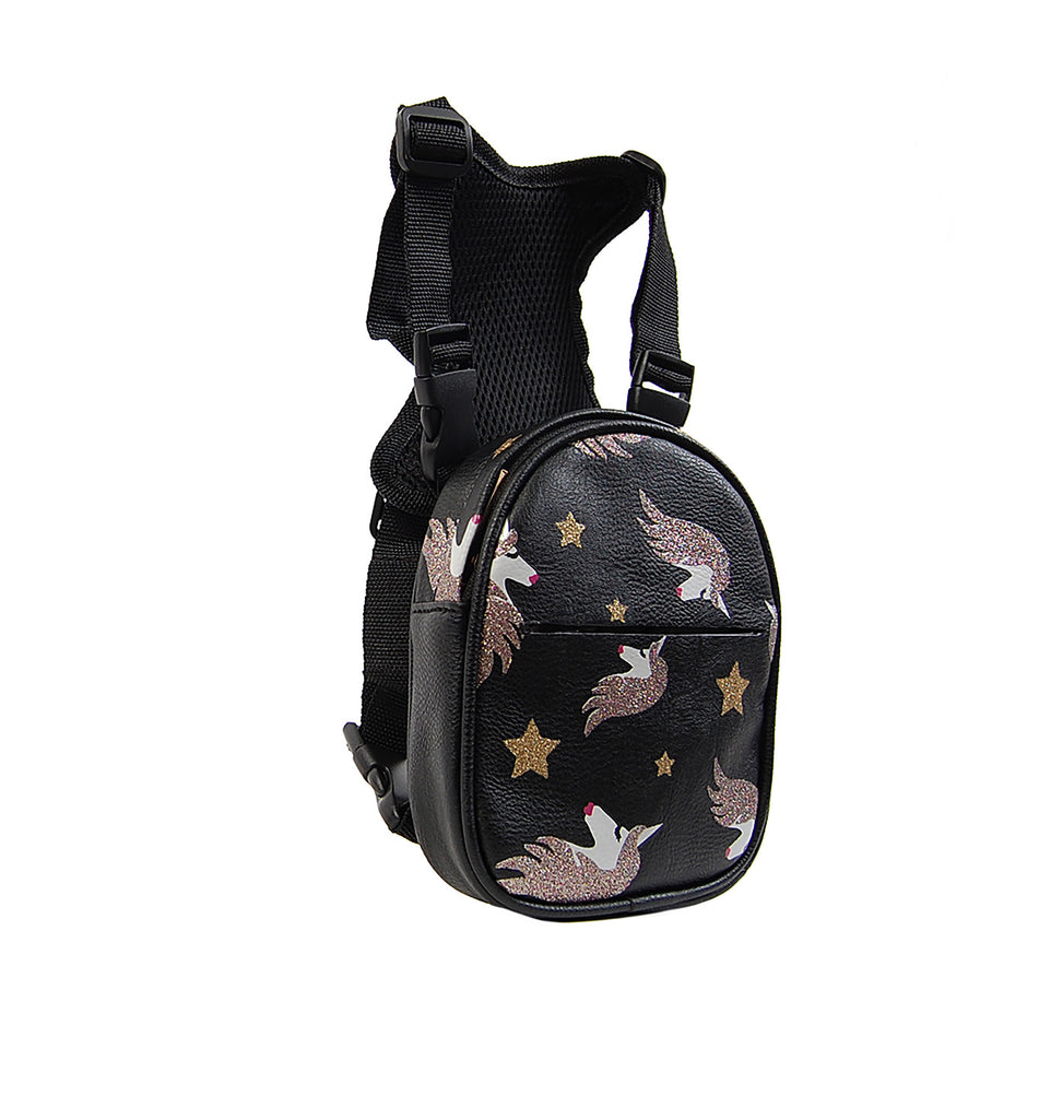 OH-MY-DOG DOGGY UNICORN MINI BACKPACK/POOP BAG HOLDER
