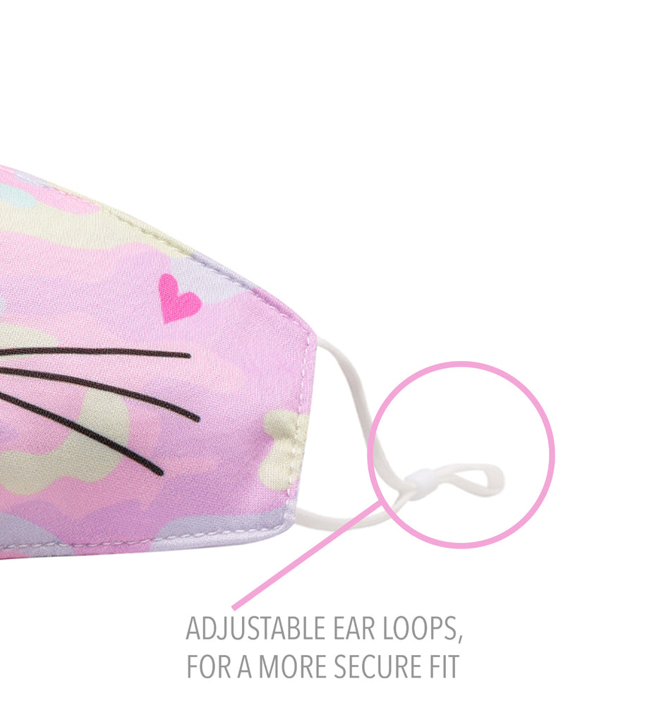 Miss Bella Kitty Pastel Camo Icon Face Mask (final sale item)