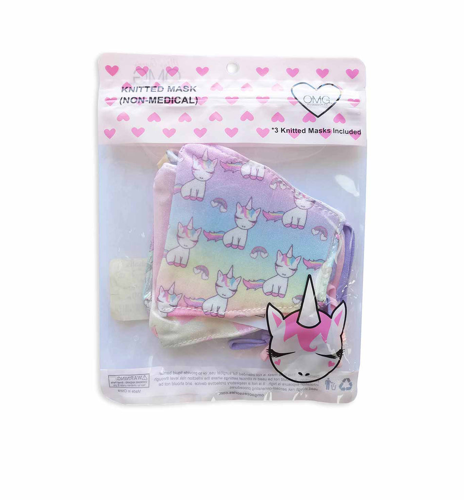Metallic Ombre Miss Gwen & Hearts 3 Pack Face Mask Set (final sale item)