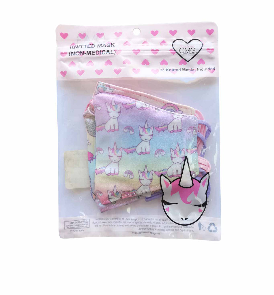Metallic Miss Gisel & Rainbows 3 Pack Face Mask Set (final sale item)