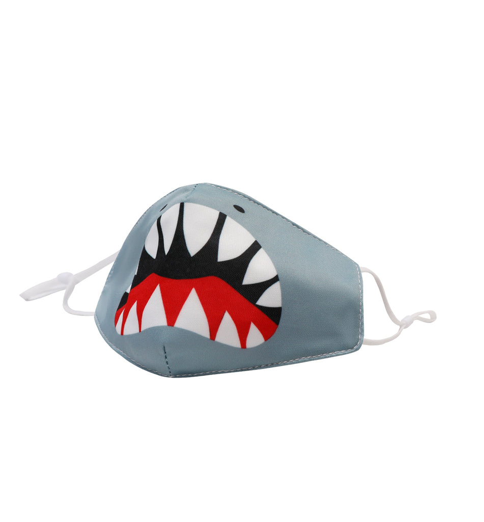 Shark Face Icon Face Mask (final sale item)