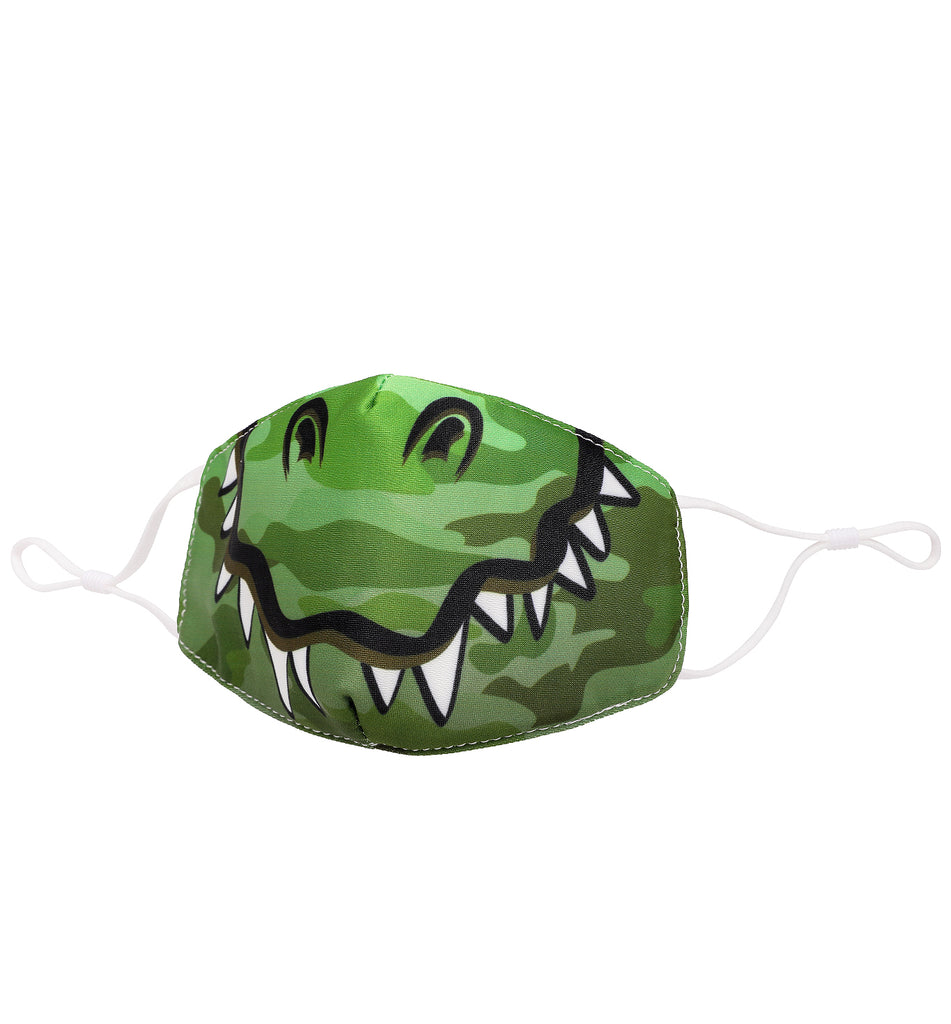 Dino Camo Printed Icon Face Mask (Final Sale Item)